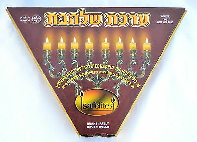 44 glasses of olive oil solid Menorah Chanukah Hanukka Candlestick Kosher