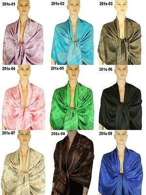 New Pashmina Scarf Shawl Wrap Cape Cashmere Silk Wool More Design & Colors 201s