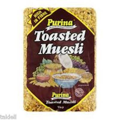 PURINA TOASTED MUESLI 1KG - BY THE PURINA HEALTH FOODS COMPANY x 3 PACKS