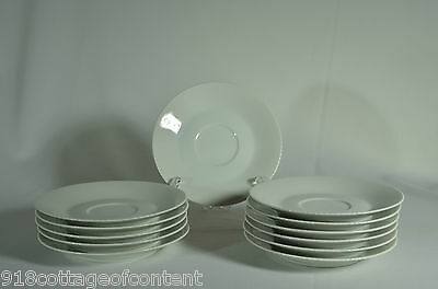 FINE CHINA JAPAN ASCOT white ribbed SAUCER  (28) available EXC