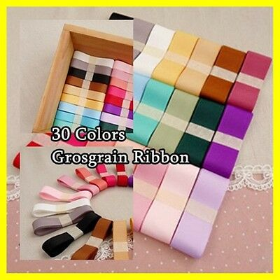 """3/8"""" 9mm Double face Wedding Gift Grosgrain Ribbon Craft 30 colors"""