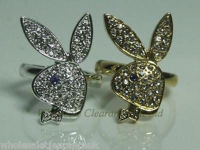 Joblot Of Playboy Ladies Bunnyhead Gold & Silver Rings