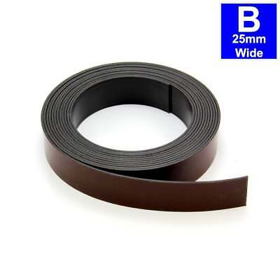 1x30M MagFlex® 12.7mm Wide Flexible Magnetic Tape Foam Self Adhesive-Polarity A