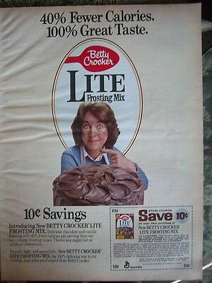 1978 Betty Crocker Lite Cake Frosting Mix Color Ad