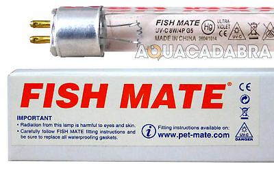 Genuine 8W Fishmate Fish Mate Uv Bulb/tube/lamp 8 Watt Uvc Pond Fish
