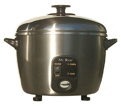 Sunpentown SPT 6 Cup Stainless Steel Rice Cooker / Steamer - SC-887