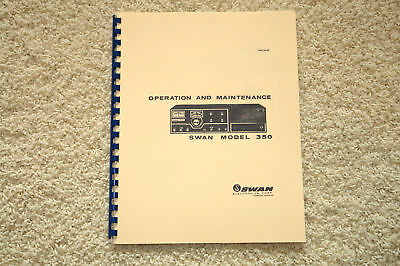 SWAN 350  HF Xcvr Manual  w/Plastic Covers - Ring Bound