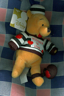 o. Disney Store Mini Bean Bag Prisoner Love Pooh Eight Inch from Winnie the Pooh