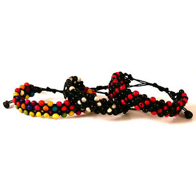 #3725 Set Three Friendship Mixed Color Natural Seeds Adjustable Bracelet Amazon