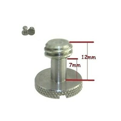"""Steel Screw 3/8"""" for Camera Tripod QR Plate ideal for Manfrotto / Sachtler"""