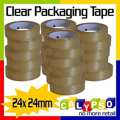 24x 24mm Clear Packaging Sticky tape 75m Rolls