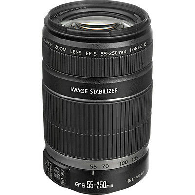 CanonEF-S 55-250mm 55-250 f/4-5.6 IS Lens - Brand New