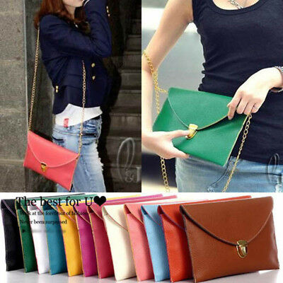 AU SELLER Envelope Clutch Purse messenger Shoulder HandBag ha139