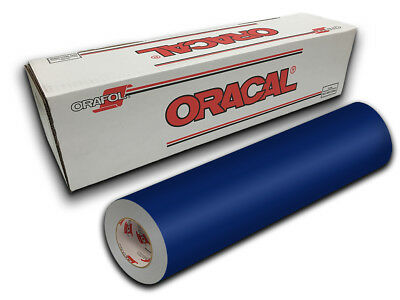 "24"" X 10ft - Cobalt Blue Oracal 651 Intermediate Graphic & Sign Cutting Vinyl"
