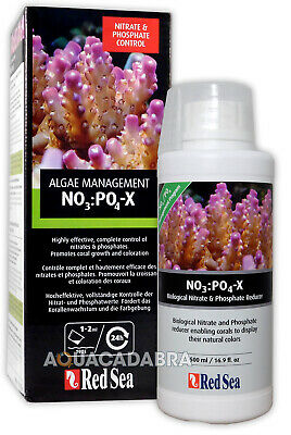 RED SEA NO3 PO4 X NPX 500ml NITRATE & PHOSPHATE REMOVER NO POX MARINE REEF TANK