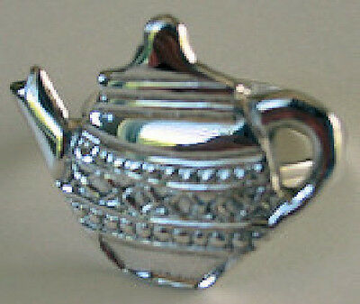 Silver plated Teapot Napkin Ring Holders Boxed Set of 4 BRAND NEW