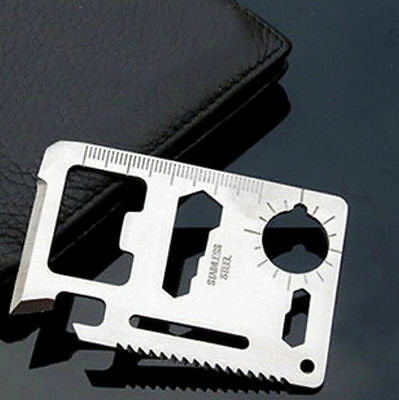 11 in 1 Multi Credit Card Survival Knife Camping Tool