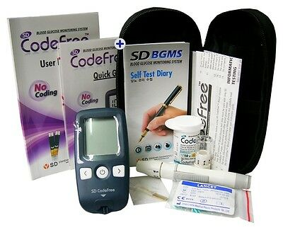 SD Codefree Blood Sugar Meter (mmol/L) Glucose Monitor Starter Kit - VAT free