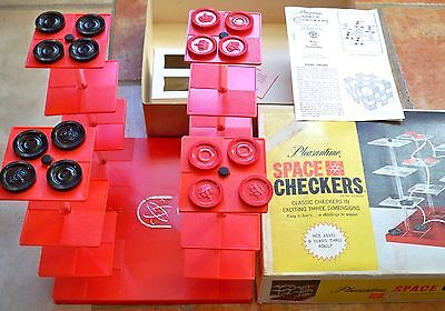 VINTAGE 1960s PLEASANTIME SPACE CHECKERS * STAR TREK PROP RARE Pacific Game Co.