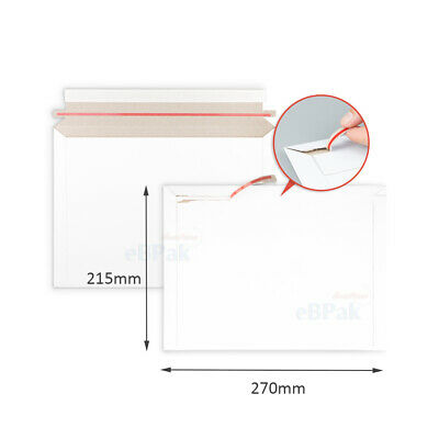 200 #02 215x275mm Card Mailer White Envelope * 300GSM Tough Bag Replacement