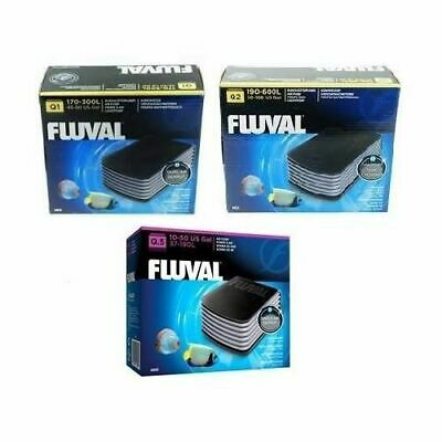 Fluval Q1,q2 Air Pump Fish Tank Aquarium Quiet Powerfull Tropical Cold Marine