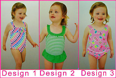BABY GIRL Sz 1 or 2 SWIMWEAR Adorable Bathers - Girls TOGS -Choose Design - NEW