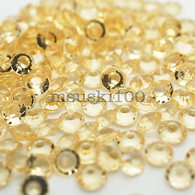 1000 Gold Confetti Wedding Table Diamond Scatter Gem 4.5mm Diamante Decoration