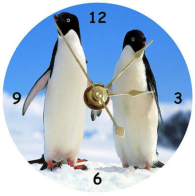 NEW Penguins Holding Hands CD Clock