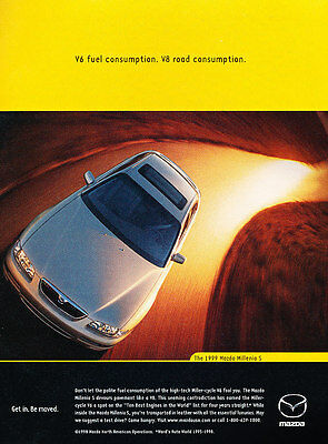 1999 Mazda Millenia - S Miller Cycle -  Classic Advertisement Ad A56-B