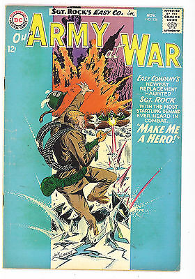 Our Army at War #136, DC Comics 1963 Kubert VG