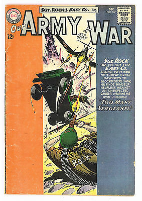 Our Army at War #137, DC Comics 1963 Kubert VG