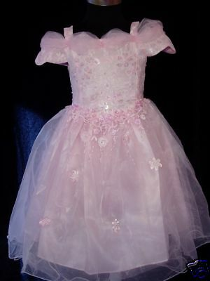 New Pink Party Flower Girl Pageant Dress 0-3 Months