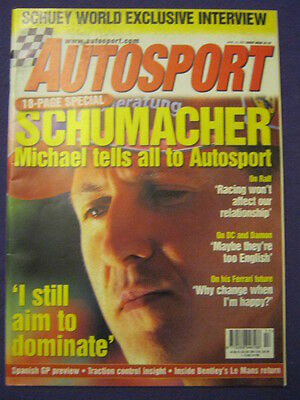 AUTOSPORT - SCHUMACHER - 26 April 2001 vol 163 # 5