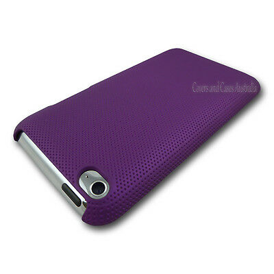 NEW Purple Textured Hard Back Cover Case for iPod Touch 4 4th GEN 4G Plastic
