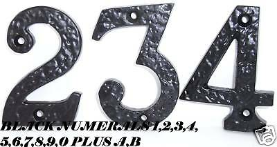 Black Cast Iron Antique Tudor Style Door Numbers 1,2,3,4,5,6,7,8,9,0