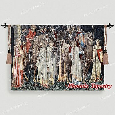 William Morris Holy Grail Tapestry - The Arming and Departure of the Knights, UK
