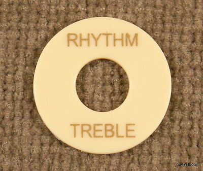 Toggle Switch washer Rhythm / Treble Ring Creme/Gold -NEW