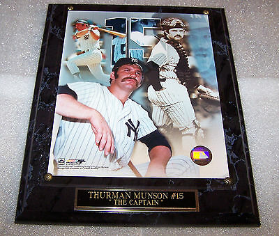 Thurman Munson New York Yankees Photo Plaque Free Insurance Shipped 2 Day Mail