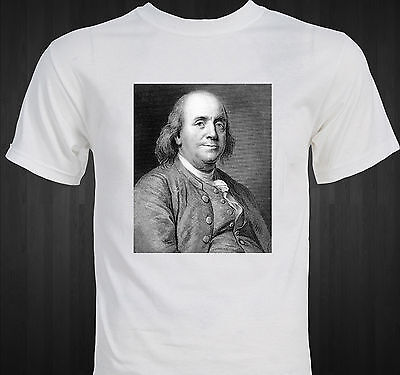 Benjamin Franklin Founding Father patriotic colonial american T-shirt
