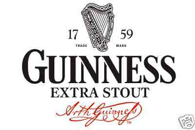 Guinness Extra Stout Vinyl Sticker Decal 14""
