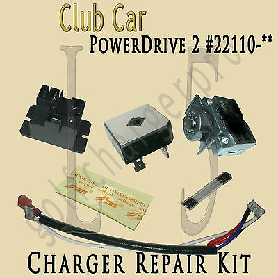 Club Car Golf Car Cart Powerdrive 2 Charger Repair Kit Model 22110 Level 5