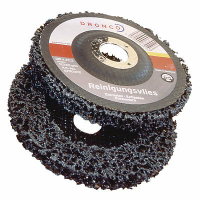 Dronco Cleaning Fleece Angle Grinder Disc 115mm Coarse Rust Paint Grinding Clean