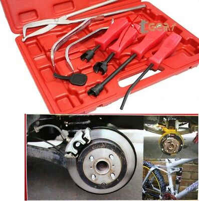 8PC BRAKE SPRING INSTALLER REMOVER PLIERS & Adjustment Spoon TOOLS SET KIT 90365