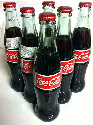 6 Pack COCA COLA COKE MEXICO MEXICAN 355 ml / 11.5oz Collectible import
