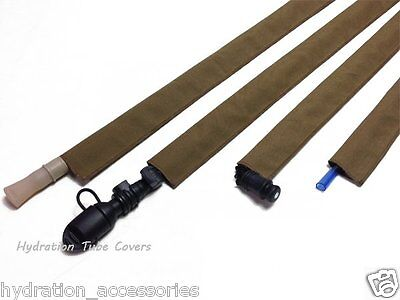 Coyote Brown Tactical Hydration Back Pack Drink Tube Cover Sleeve for Bladders