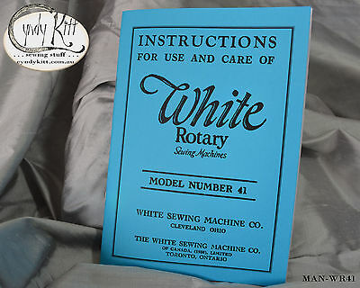 White Rotary Model 41 Instruction Book