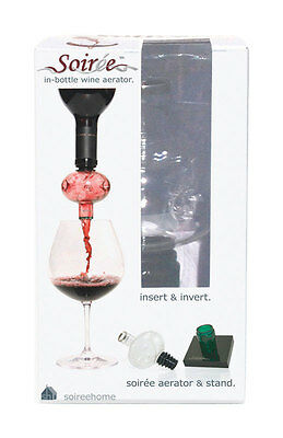 "Soiree Bottle Top Wine Decantor & Aerator ""new""  Sre-1008"