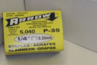 "Arrow P-35  1/4"" leg staples - 5040 / box"