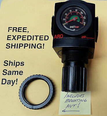 FACTORY FRESH ARO R37341-600 Regulator w/Gauge; FREE Same Day Expedited Shipping