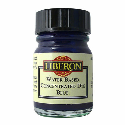 LIBERON CONCENTRATED WATER BASED WOOD DYE BLUE 15ml SAFE FOR TOYS